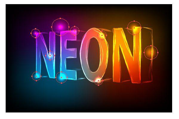 How To Draw Neon On Illustrator