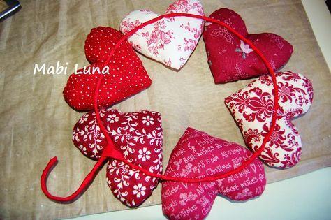 Mabi Luna: Corona de corazones para Navidad (tutorial)