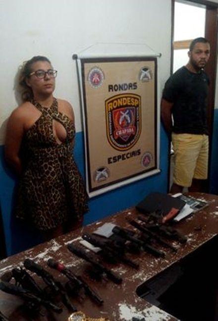 22 armas de fogo são apreendidas na cidade de Lapão