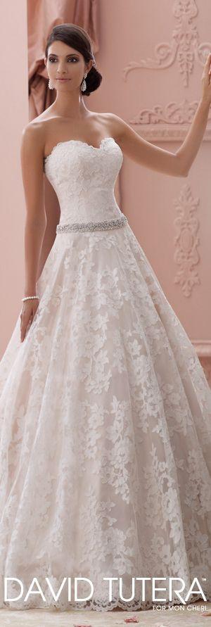 I love the lace on this dress! The David Tutera for Mon Cheri Spring 2015 Wedding Dress Collection - Style No. 115226 Suri davidtuteraformoncheri.com
