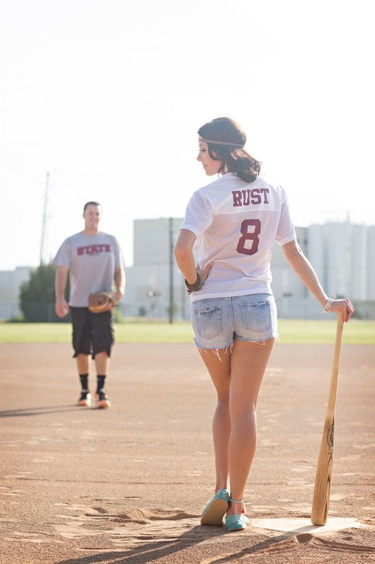 Baseball engagement Photo By Alyssa Turner Photography