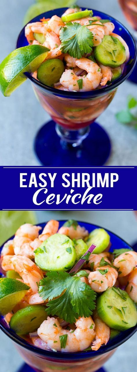 This easy shrimp ceviche is the perfect meat free meal or appetizer! #VivaLaMorena #40DaysOfFlavor #ad