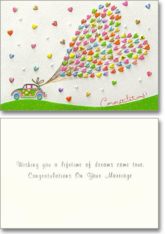 Love is in the air! This delicate yet dazzling card is sure to wow those newly weds. @Turnowsky