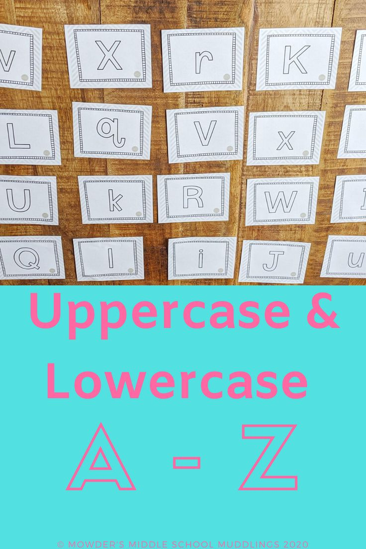 Distance learning printable uppercase and lowercase