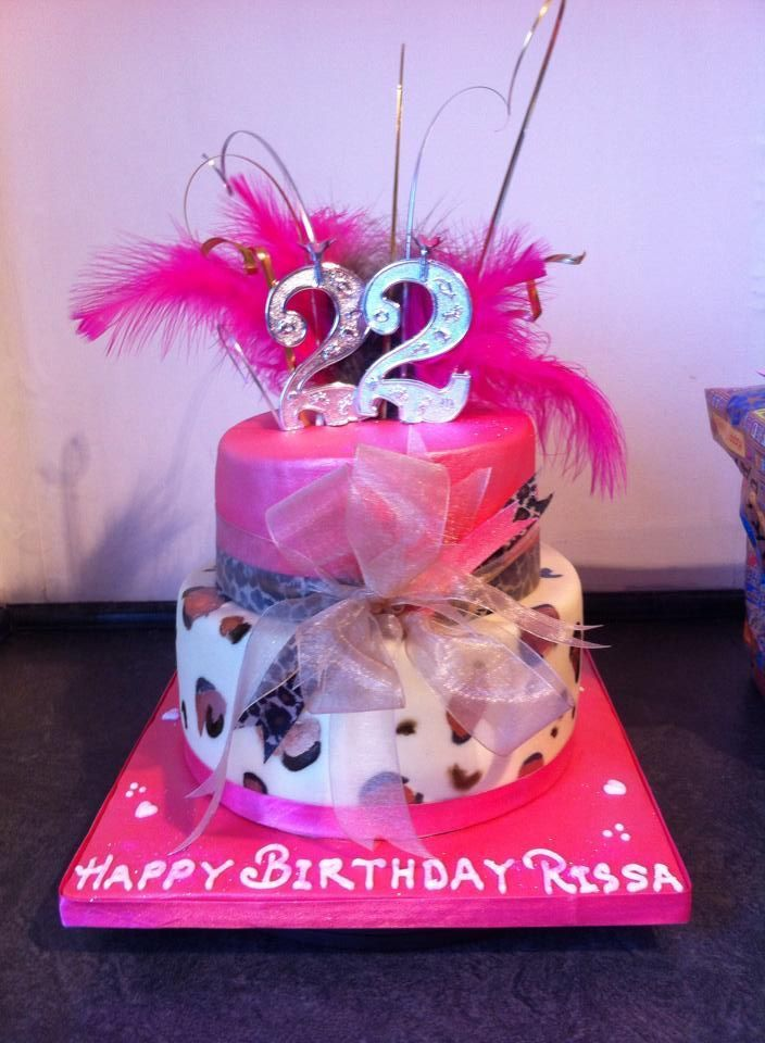 cool 22nd Birthday Cake Image