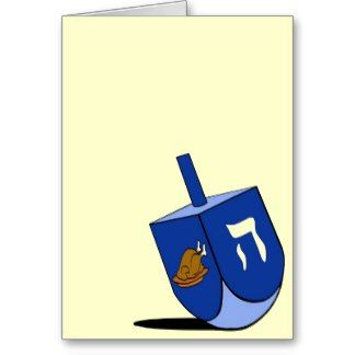 Turkey Dreidel Card