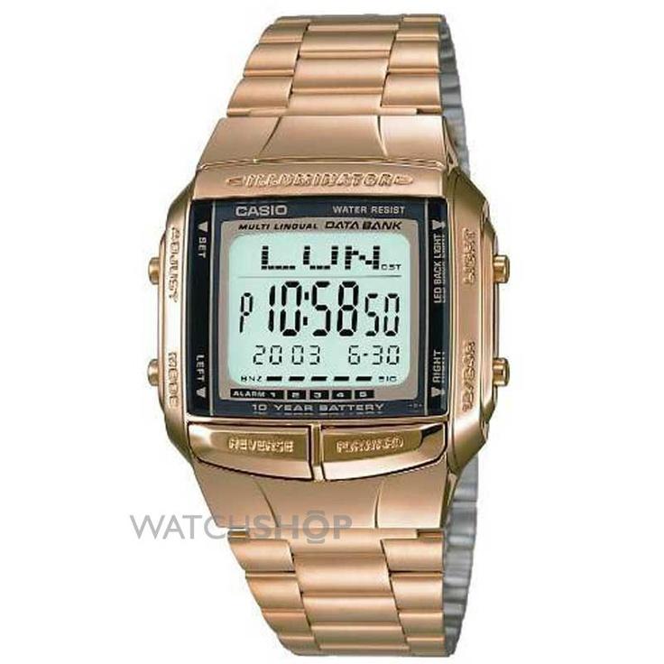 Mid-size Casio Databank Alarm Chronograph Watch DB-360GN-9AEF