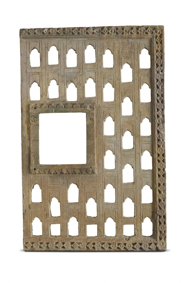 This square-shaped sandstone screens are common features in windows, jharokhas and balconies of secular architecture of 19th century Rajasthan, Gujarat and Punjab. In the context of Rajasthan, such screens were usually affixed to the windows, serving to secure the opening and allowing ventilation without encouraging dust accumulation.This is seen in the area around the artwork Touche by #RajeevSethi