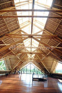 """Gran edificio de bambú es uno tras otro en Bali, noticias internacionales atención como """"material de construcción ecológico"""": AFPBB Noticias"""
