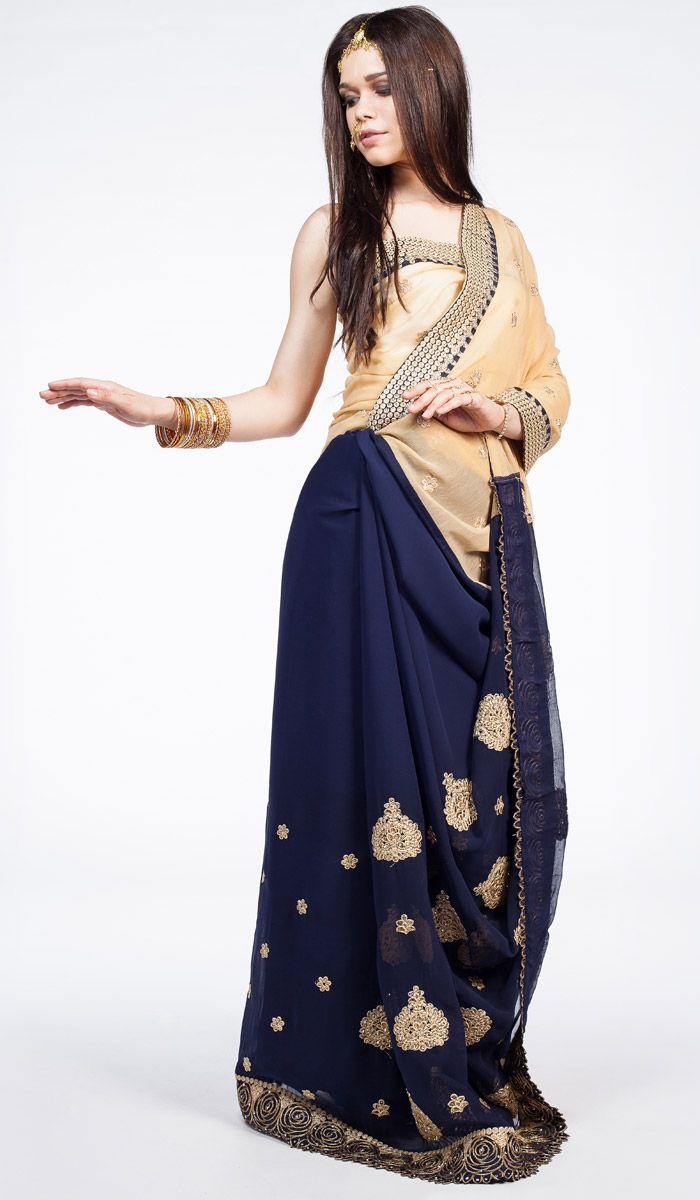 Индийское сари, синее сари из Индии, Indian sari, saree, blue sari from India. 11 200 рублей