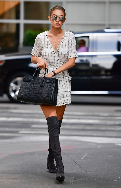 Street style celebrites sacs stars mode gigi hadid saint laurent