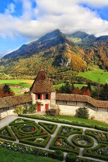 View from the balcony of Chateau de Gruyeres, Switzerland (by zap358). ♡❀♡ WHAT A WONDERFUL WORLD ♡❀♡ - Google+