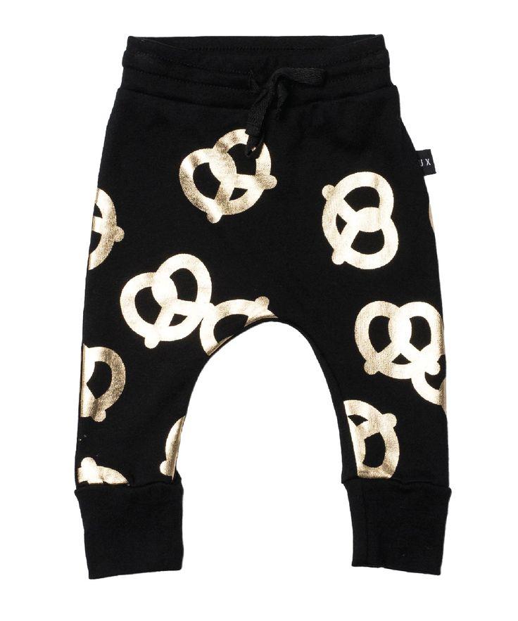 Huxbaby Pretzel Drop Crotch Pant   Black (pre-order) – Pops of Neon