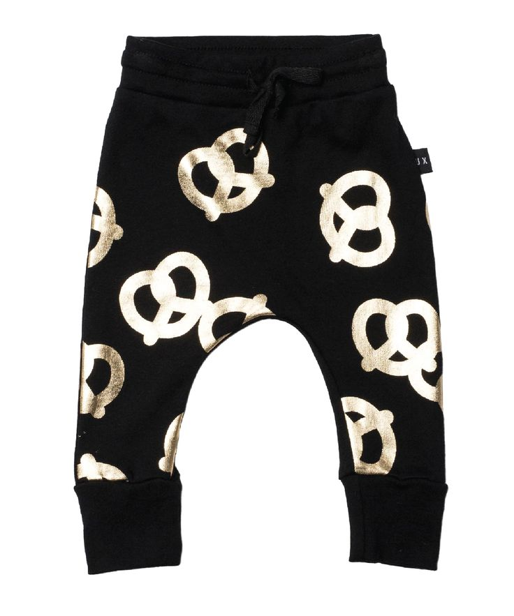 Huxbaby Pretzel Drop Crotch Pant | Black (pre-order) – Pops of Neon