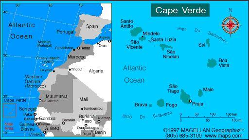 Map of Cape Verde. Languages: Portuguese, Criuolo Ethnicity/race: Creole (mulatto) 71%, African 28%, European 1%