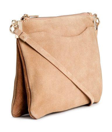 Veloursledertasche   Hellbeige   Damen   H&M DE