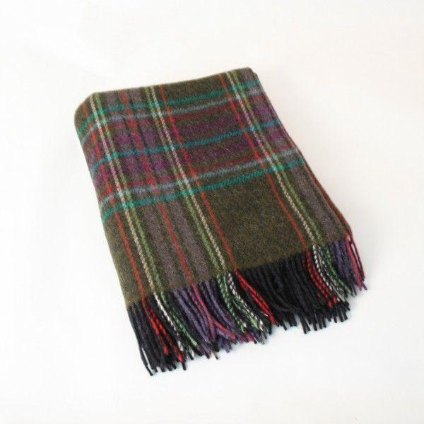 100% Wool Large throw 137 x 182 cm by John Hanley