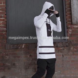 zipper hoodies raglan style custom gym Hoodie/long Tall Hoodie/ Street wear hoodies Elongated hoodie, zip long Hoodie wholesale