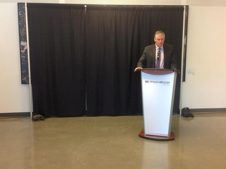 "Mohawk College unveils Art Piece ""Hamilton, 2012""."