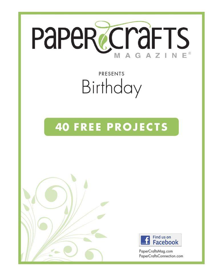 Paper crafts magazine birthday cards