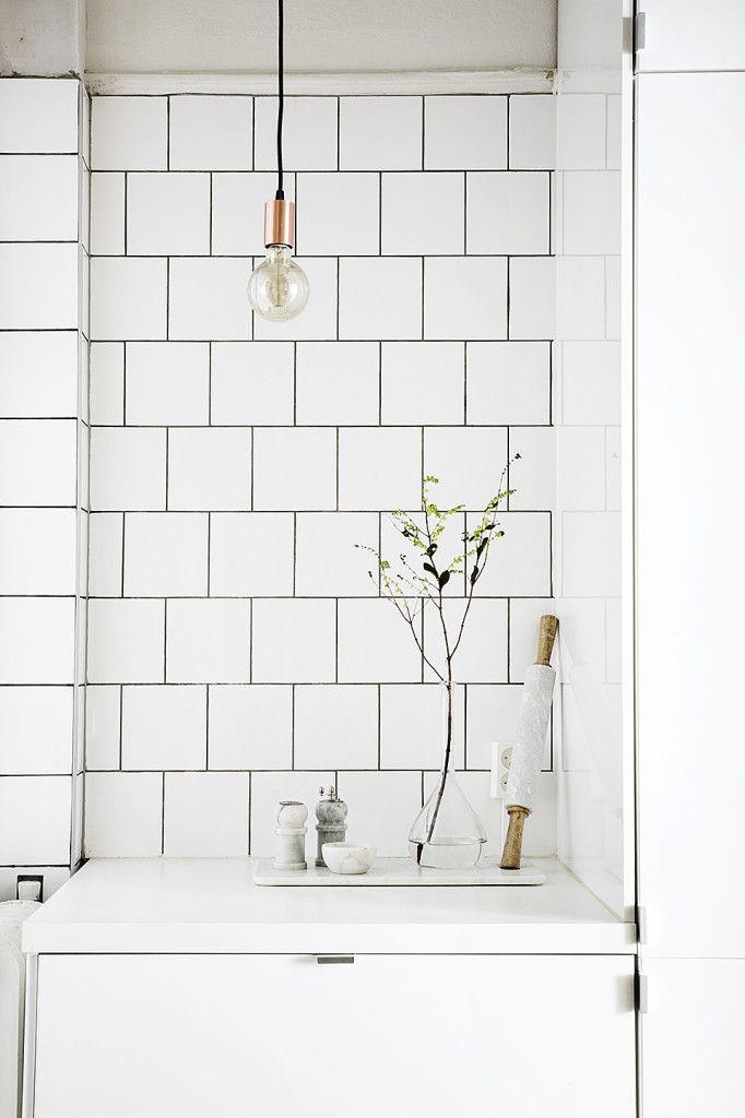Kitchen inspo - white tiles