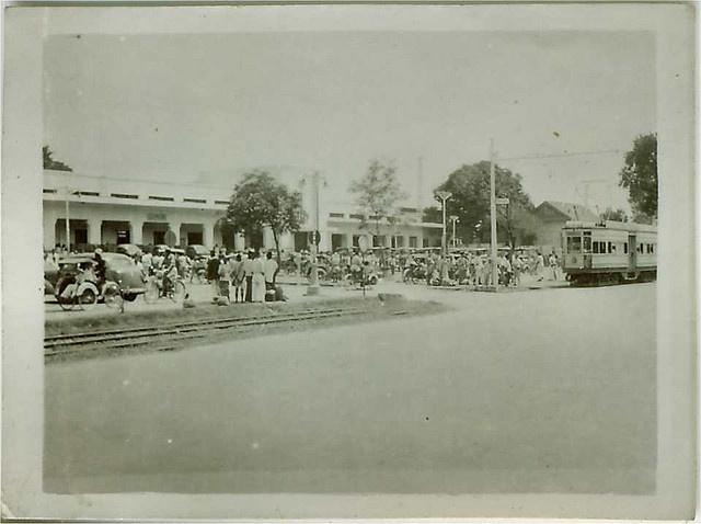 Batavia (Jakarta) Train Station (Gambir) 1949-1950