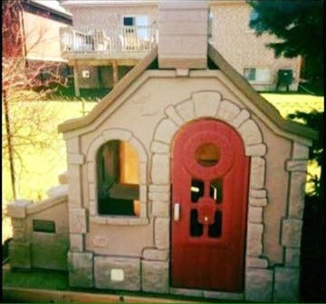 Step 2 Naturally Playful Storybook Cottage Playhouse Outdoor Child Toddler Used Step2 Play Houses Storybook Cottage Build A Playhouse