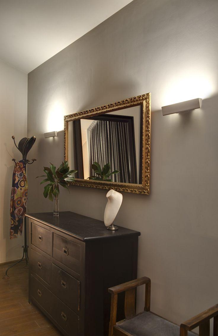 Luminaire entrée lampe conik l29 cm blanc
