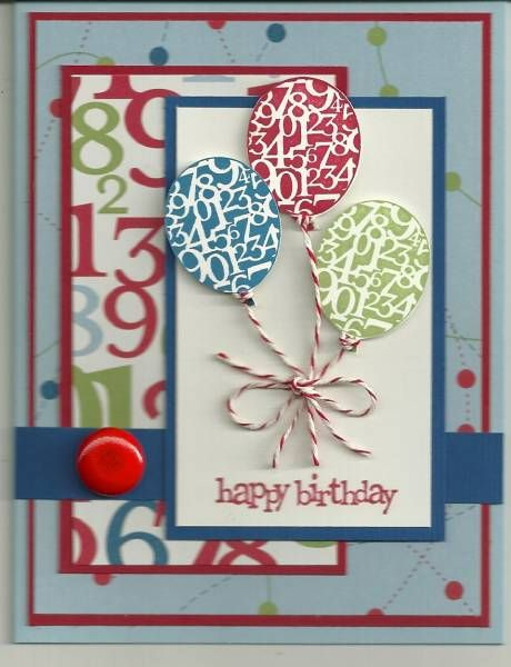 Birthday card....any age...just change colors and numbers....