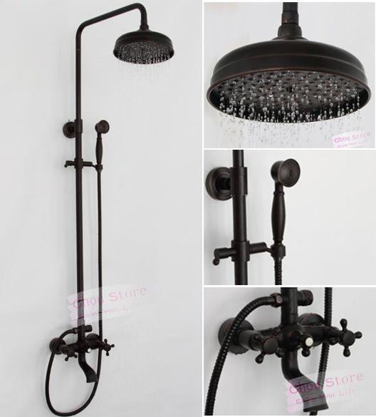 Details About Oil Rubbed Bronze Bathroom Rain Shower Faucet Set Shower Kit B18f A