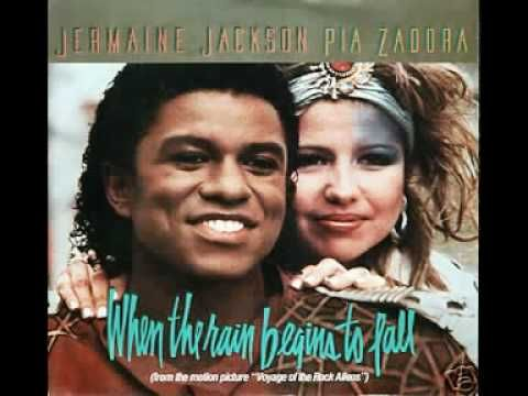 Jermaine Jackson & Pia Zadora - When the rains begin to fall - YouTube