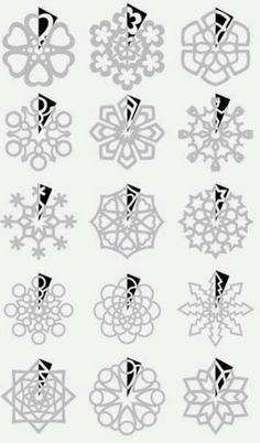Snowflake cutout patterns! A LOT of other December-y decorations on the sight too! (In Estonian language but great pics!)