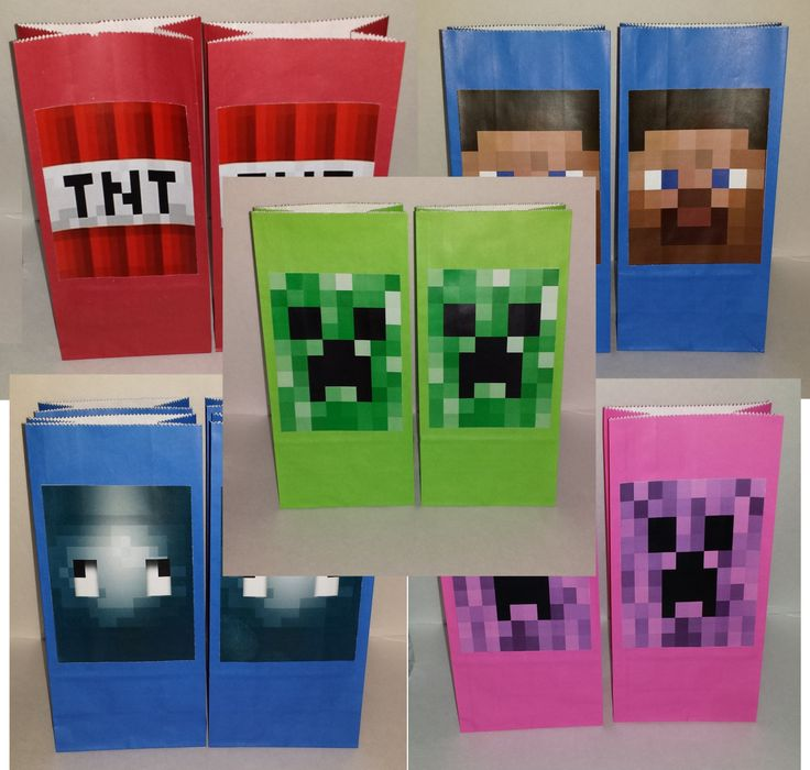 10 Minecraft Bags Minecraft Goody Bag Minecraft by ElishaChristene