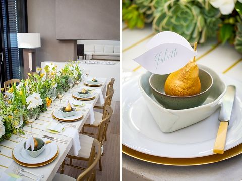 Gilded Pear Placecards