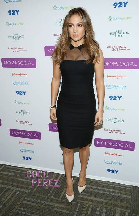 Jennifer Lopez dusts off her LBD for the United Nations' Mom + Social event
