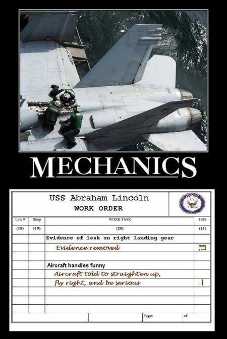 Mechanics - Military humor