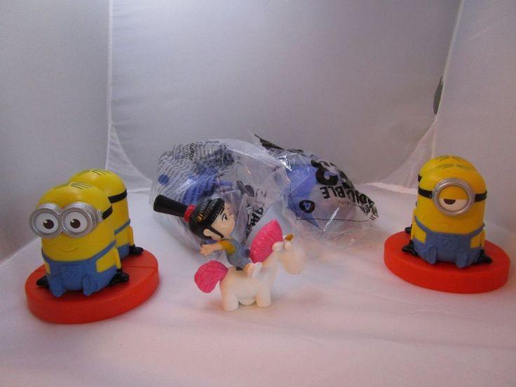 Lot of 5 Minion Action Figures Despicable Me 2 3 McDonald Happy Meal Toys  #McDonalds