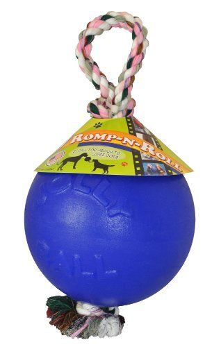 """Aus der Kategorie Seile  gibt es, zum Preis von EUR 24,59  Jolly Ball mit Strick<br /> Der Jolly Ball mit Strick ist wie auch der Push'n Play oder der Jolly Bal-in-Bal ein sehr strapazierfähiges Hundespielzeug. Der Jolly Ball mit Strick Hundeball besitzt einen sehr robusten integrierten Strick, so das Ihr Hund mit Ihnen oder mit Hunde- Kumpels tolle Zerrspiele veranstalten kann.<br /> <br /> Der flexible Jolly Ball eignet sich prima für """"einfaches"""" Fußball spielen, apportieren, werfen…"""