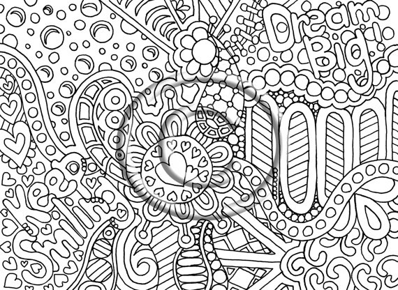 Psychedelic Hippie Coloring Page