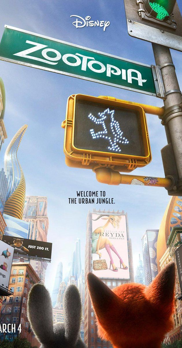 Directed by Byron Howard, Rich Moore, Jared Bush.  With Idris Elba, Ginnifer Goodwin, Jason Bateman, Alan Tudyk. In the animal city of Zootopia, a fast-talking fox who's trying to make it big goes on the run when he's framed for a crime he didn't commit. Zootopia's top cop, a self-righteous rabbit, is hot on his tail, but when both become targets of a conspiracy, they're forced to team up and discover even natural enemies can become best friends.