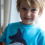 """genäht – {endlich """"fümf"""": Hai-Shirt für den Sohn, Versandkostenfreie Lieferung für euch}"""