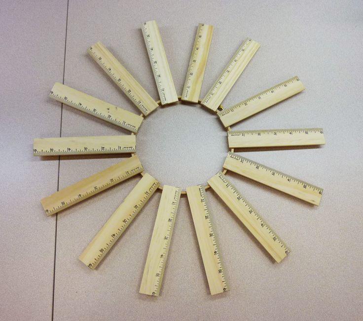 Teacher-gift-idea-ruler-wreath-crafts-unleashed-step1