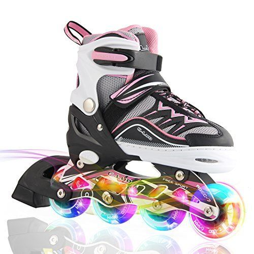★INLINE SKATING – A GOOD AND HEALTHY EXERCISE FOR KIDS This activity will help kids to build strong bones, joints and muscles, which helps prevent obesity. Kids who exercise regularly sleep better and have stronger immune systems. Kids today are far less physcially active, they spend so l... more details available at https://perfect-gifts.bestselleroutlets.com/gifts-for-teens/skates-skateboards-scooters/product-review-for-kuxuan-girls-cira-adjustable-kids-inline-skate