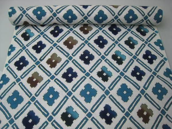 """Yukata """"Flower diamond"""" http://www.kesarankimonofabric.com/"""