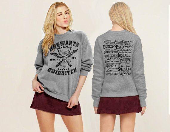 Hogwarts Quidditch Zaubersprüche Harry Potter Geek Inspiriert Unisex  Sweatshirt