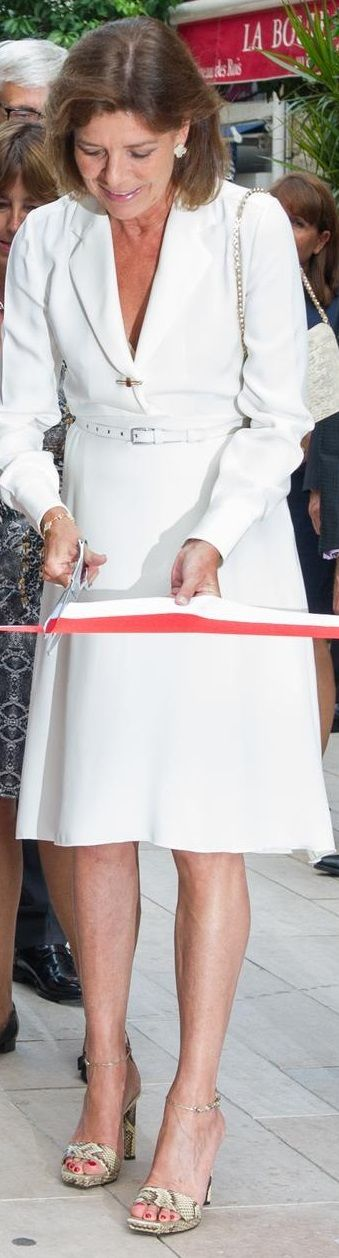 The Royal Digest: Prince Albert & Princess Charlene Attend Golf Tournament; Princess Caroline Chic in White!