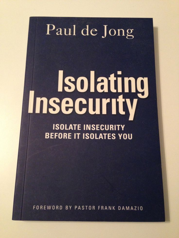 I purchased this book after Paul de Jong spoke at our BUILD Conference at Church.  I really enjoyed his speaking and this book is a great help to anyone who may be dealing with insecurity.  If you are breathing, you deal with it from time to time.  :)