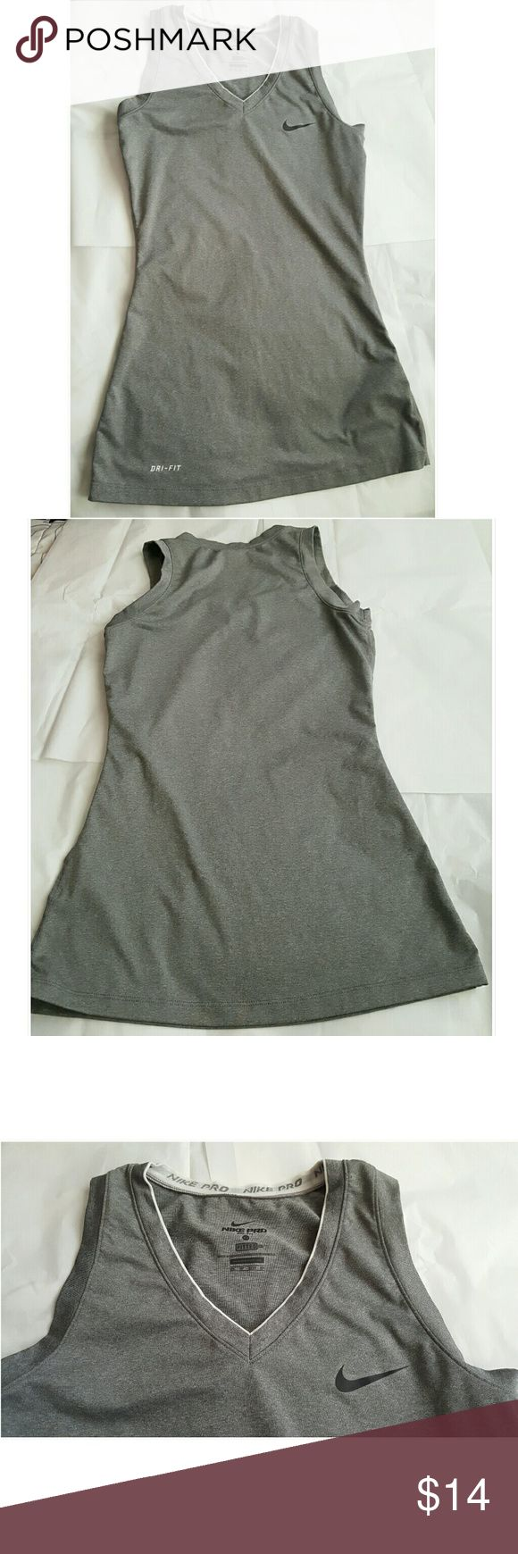 Nike Pro Top Excellent condition!  Worn once.  Fitted shirt. Nike Tops
