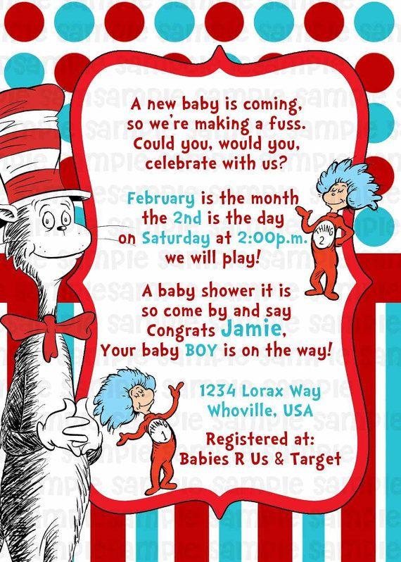20 Best Dr Seuss Printables Images On Pinterest Baby Shower
