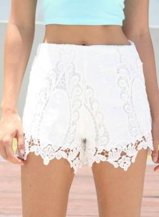 67 best Lace High Waisted Shorts images on Pinterest